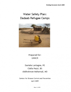 Water Safety Plan Dadaab (CDC, 2009)